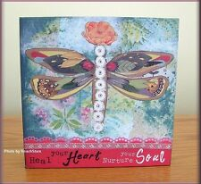 HEAL YOUR HEART WALL ART BY KELLY RAE ROBERTS 6 INCHES SQUARE FREE U.S. SHIPPING