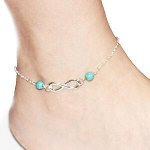 Ankelts For Women Girl Summer Jewelry Bohemia Foot Bracelet Summer Beach Silver