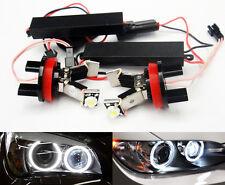 2x Error Free LED For BMW Angel Eye Halo Light H8 3-Series E90 E91 E92 E93 Sport