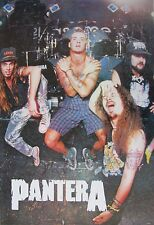 "PANTERA ""GROUP POSING IN FRONT OF DRUM KIT"" POSTER FROM ASIA - Heavy Metal Music"