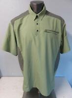 Mens 5.11 Tactical Series Polo Shirt Size 2XL Short Sleeve Polyester Green Gray