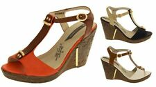 Synthetic Leather Strappy, Ankle Straps Standard Width (B) Heels for Women
