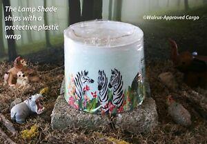 ANTHROPOLOGIE WATERCOLOR SAFARI LAMP SHADE (SMALL) -NIB- LIGHT YOUR WILD SIDE!