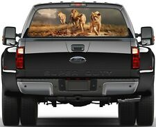 Lion Pack Hunting Version 1 Rear Window Graphic Decal Truck SUV