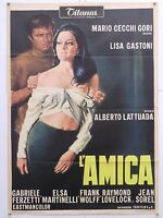 L'AMICA drammatico Lattuada con Lisa Gastoni Jean Sorel manif. orig. 1969