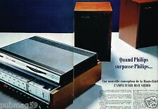 G- Publicité advertising 1968 (2 pages) Ampli Tuner Hi-Fi Philips
