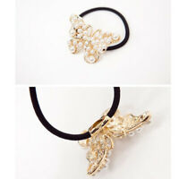 New Fashion Women Girl Alloy Butterfly Sweet White Pearl Hair Band Hair Jewe JR