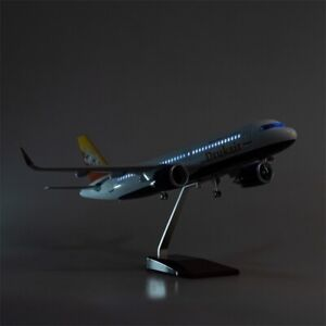 """Airplane Bhutan Airbus A320 NEO 1:150 Diecast Plane Model 18"""" WITH LIGHTS"""