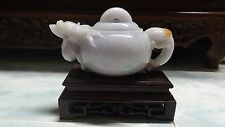 Outstanding Rare Translucent Lavender Jadeite - Teapot With Dragon Head Spout