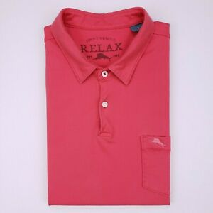 Tommy Bahama Large Pima Cotton Polo Shirt Logo Pocket Bali High Tide TR21995 L