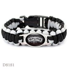 "San Antonio Spurs Basketball Paracord Bracelet Jewelry Fits 8-9""NBA US SELLER"