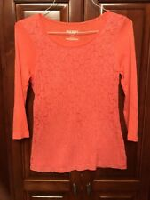 Old Navy Women's S Top BEAUTIFUL Lace Overlay ONLY $3 See Why in Description