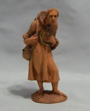 ANRI Italy Wood Carving Kuolt Man with Satchel and Hat