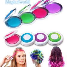 Hot Huez Hues Non-toxic Temporary Hair Chalk Dye Soft Pastels Salon Kit 4 Box