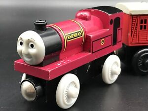 Rheneas and Baggage Carriage Thomas Wooden Train Learning Curve  Brio Compatible