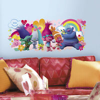 TROLLS MOVIE GIANT GRAPHIC WALL DECALS Kids Room BiG Stickers NEW Bedroom Decor