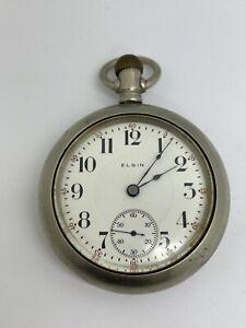 1910 Elgin 18s 17J Model 5 Grade 336 Pocket Watch  - For Repair