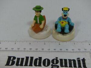Vintage 1990 Lot Ranger Smith Huckleberry Hound Figure Wendy's Kids Toy Glider