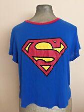 H&M Superman T- Shirt Superhero Sz L Supergirl Womens Halloween Costumes Shirt