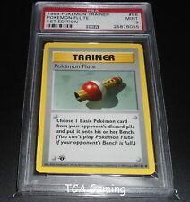 PSA 9 MINT Pokemon Flute 86/102 1ST EDITION Base Set Pokemon Card