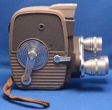 KEYSTONE K-26 Vintage 8mm Magazine Movie Camera ELGEET Turret lens USA