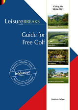 Leisurebreaks 2020-2021, Golf Gutscheinbuch, 2 for 1, gültig bis 30.06.21 NEU!
