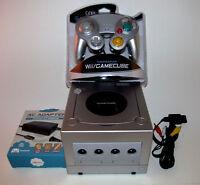 Platinum Nintendo GameCube Console Bundle System New Silver Controller & Hookups