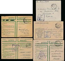 EGYPT WW2 RAF CENSOR ENVELOPES MILITARY POST PAID ACTIVE SERVICE 1941-3..5 ITEMS
