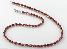 Echtschmuck-halsketten aus Sterlingsilber mit Granat für Damen