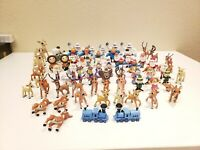 Lot of 79 Classic Media playing mantis Rudolph Red Nose Reindeer mixed Figures