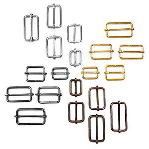 """Metal sliding bar strap adjuster buckles slider 1"""" 1 1/4"""" 1 1/2""""-21 25 30 40 mm"""