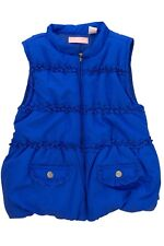 KIDO HEADQUARTERS GIRLS KIDS QUILTED VEST ROYAL BLUE SIZE 6 SMALL