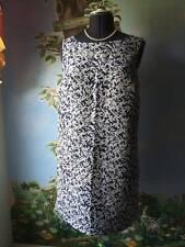 Joe Fresh White & Blue Floral Sleeveless Dress Size Large