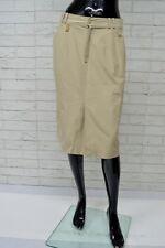 Gonna Donna BURBERRY Taglia Size 44 Vita Alta Beige Autentica Skirt Woman