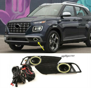 Fit For Hyundai Venue 2020 2021 Car Accessories Front bumper fog lamp light Kit
