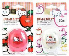 Hello Kitty Doctor Apple Teeth Strip Dental Floss 2EA Set(White-Wax,Pink-Mint )