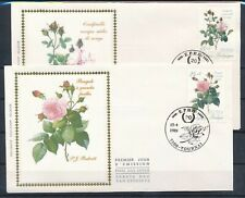 [1846] Belgium 1989 Flowers 2 good FDC very nice