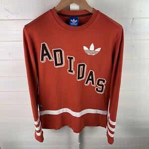 Mens Red Adidas Spellout Sweatshirt Size Medium Adidas 99