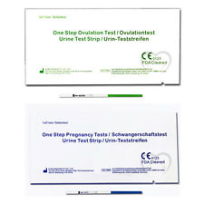 One Step 10 Test de Ovulacion 20 mIU + 2 Test de Embarazo 10 mIU Formato Tira...
