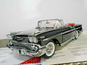 "Danbury Mint 1:24 1958 Chevrolet Impala Convertible ""Onyx Black"" Limited Edition"