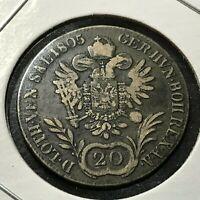 1805-A  AUSTRIA  SILVER 20 KREUZER BETTER COIN