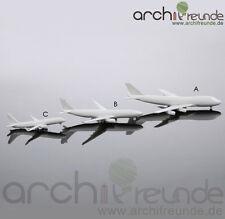 2 x schöne Modell Flugzeug Typ B - 57mm für Flughafen Modellbau 1:500 - 1:1000