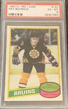 1980 1981 OPC Ray Bourque PSA 6 ROOKIE RC #140 Bruins Excellent To Mint EX - MT