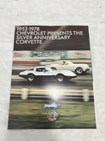 CHEVROLET CORVETTE 1978 USA Sales Brochure Original NEW 25th Anniversary