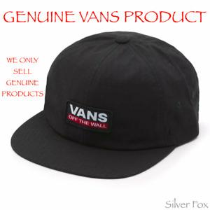 VANS OSWIN JOCKEY BLACK STRAPBACK CAP HAT BRAND NEW WITH TAGS