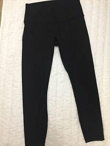 New Women's Lululemon Yoga Pants Black Activewear Workout Sz 8 Skinny
