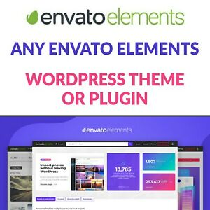 Any Envato Elements WordPress Theme / Premium Plugins / Template Kits & More