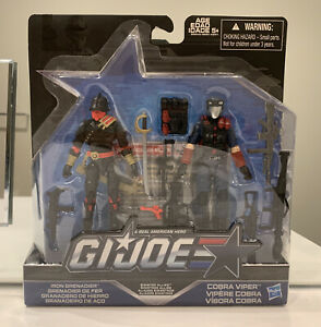 G I Joe 50th Exclusive, Sinister Allies,  Iron Grenadier & Cobra Viper,RARE,MOSC