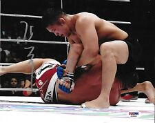 Satoshi Ishii Signed 8x10 Photo PSA/DNA COA Dynamite Picture vs Jerome Le Banner