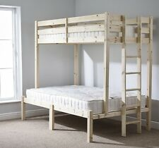 Triple Sleeper Bunk Bed Double with TWO 15cm Mattresses EB60)